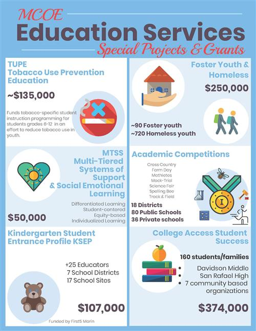 Image of the Education Services Infograph on Special Projects & Grants