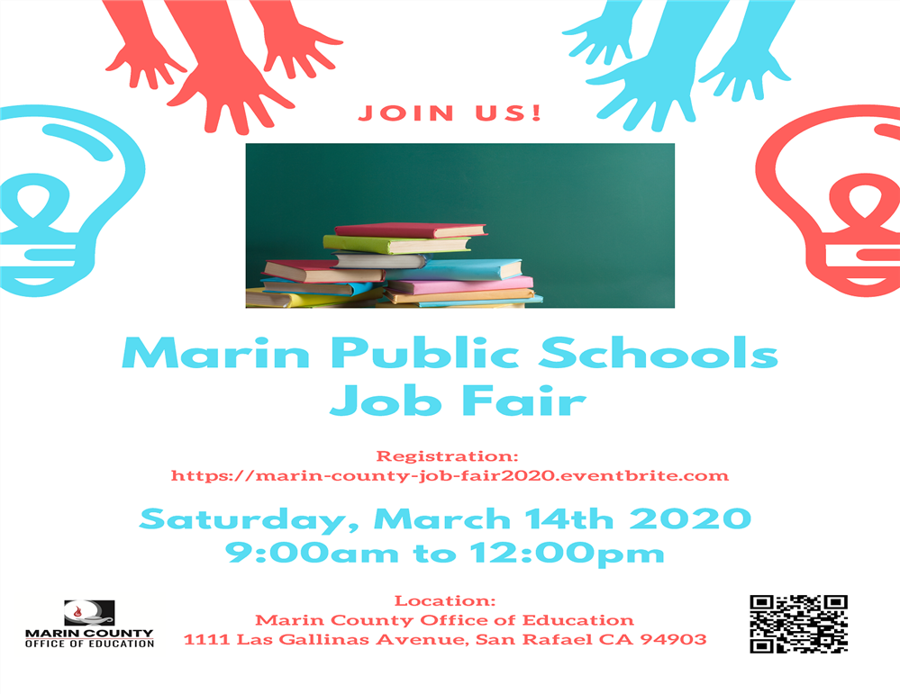 Image of the Marin Public Schols job Fair