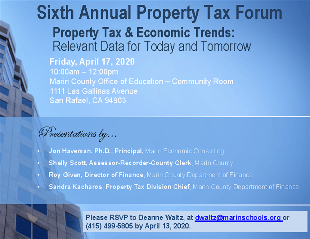 Image of the 2020 Tax Base Forum flyer