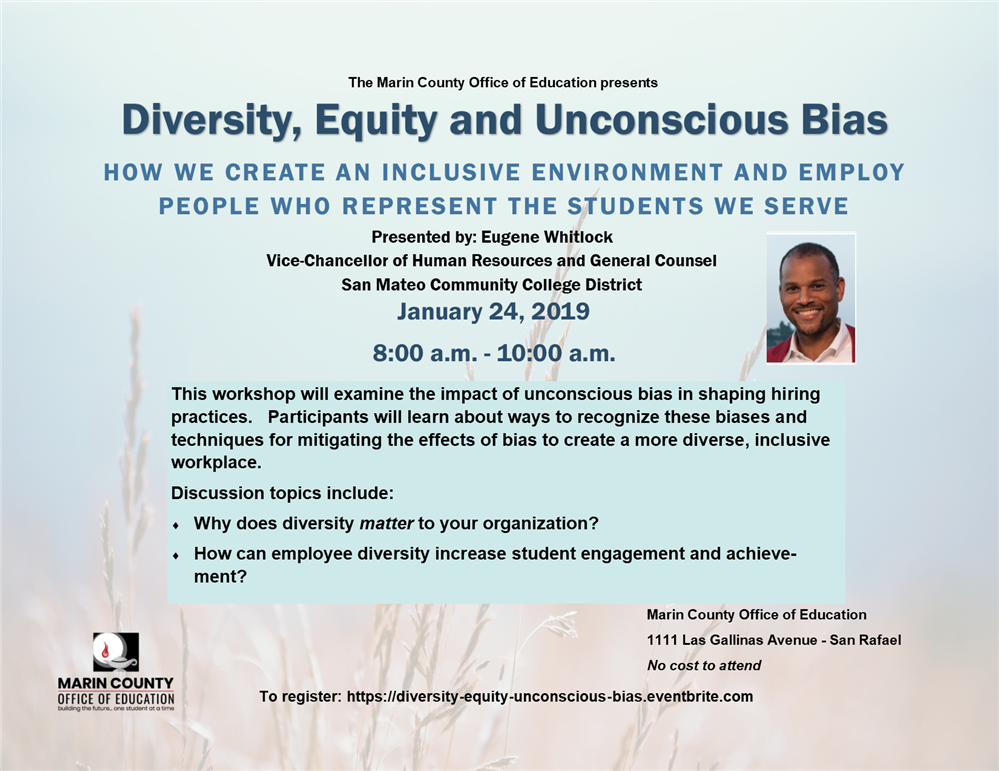 Image of the Diversity, Equity and Unconscious Bias flyer