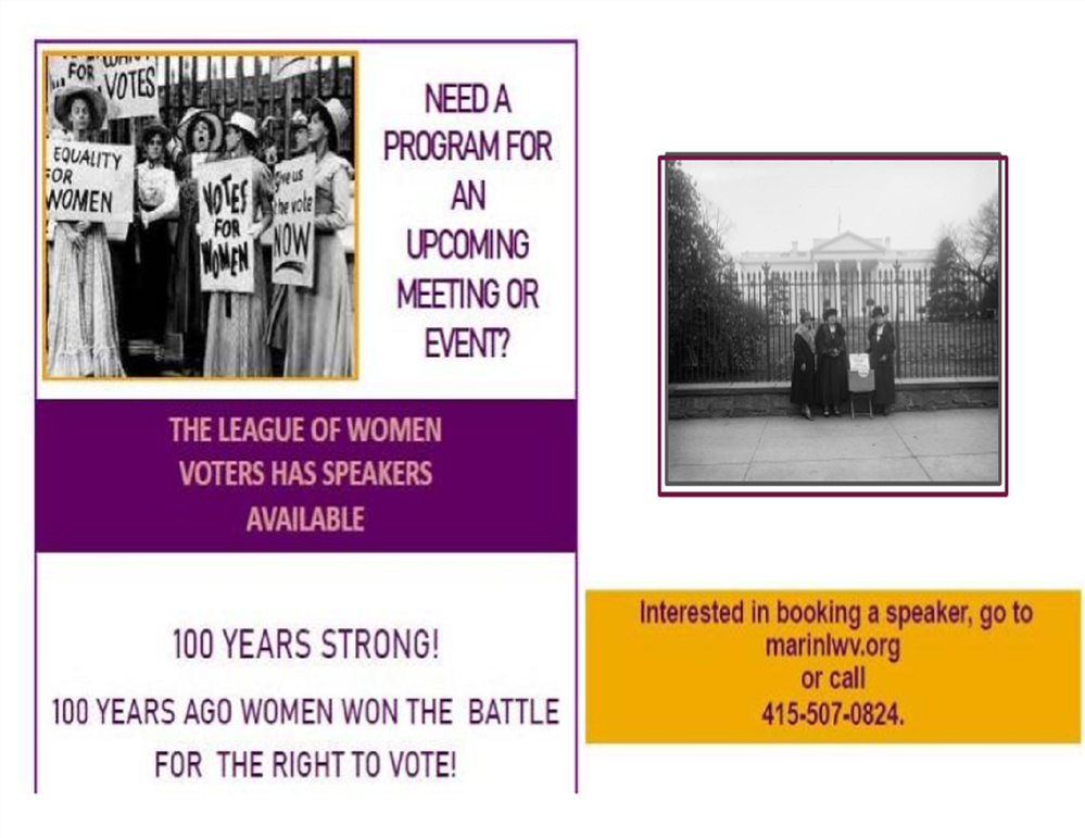 Image of the Marin Women League of Voters flyer