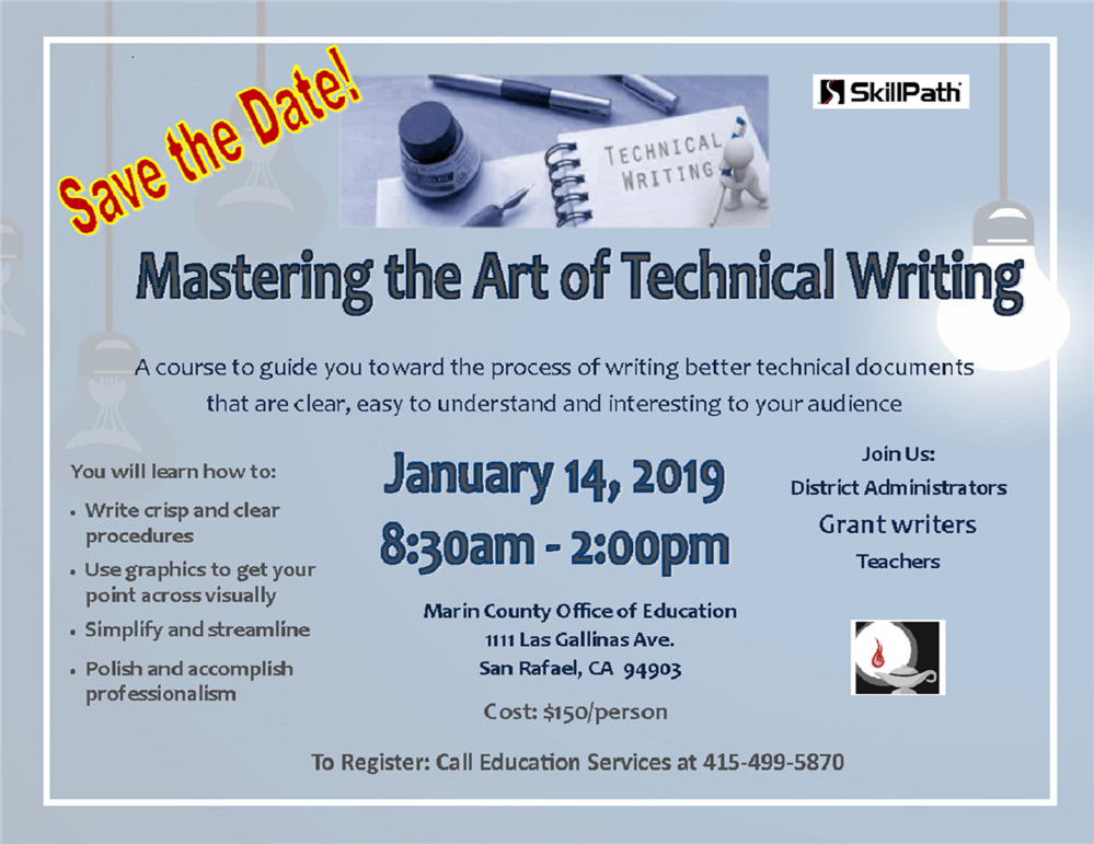 image of the Mastering the Art of Technical Writing Flyer