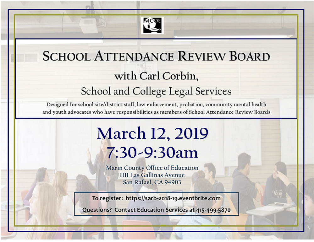 Image of the School Attendance Review Board worhshop flyer