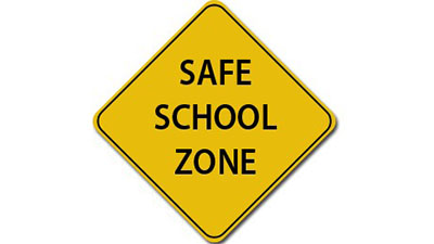 Safe School Zone sign